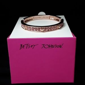 Betsy Johnson Rose Gold Bracelet